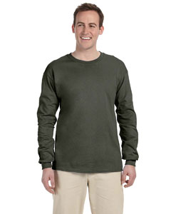 Military Green Adult Ultra Cotton® 6 oz. Long-Sleeve T-Shirt