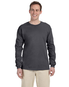Dark Heather Adult Ultra Cotton® 6 oz. Long-Sleeve T-Shirt
