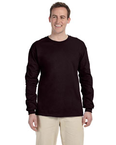 Dark Chocolate Adult Ultra Cotton® 6 oz. Long-Sleeve T-Shirt