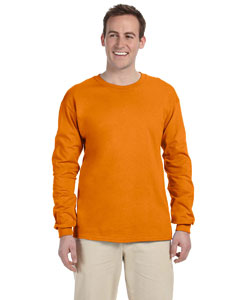 Safety Orange Adult Ultra Cotton® 6 oz. Long-Sleeve T-Shirt