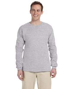 Sport Grey Adult Ultra Cotton® 6 oz. Long-Sleeve T-Shirt