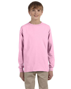 Light Pink Ultra Cotton® Youth 6 oz. Long-Sleeve T-Shirt