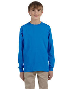 Sapphire Ultra Cotton® Youth 6 oz. Long-Sleeve T-Shirt