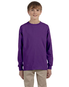 Purple Ultra Cotton® Youth 6 oz. Long-Sleeve T-Shirt