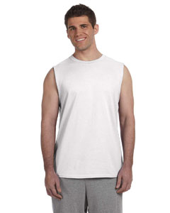 White Ultra Cotton® 6 oz. Sleeveless T-Shirt
