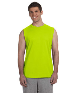 Safety Green Ultra Cotton® 6 oz. Sleeveless T-Shirt