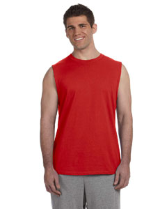 Red Ultra Cotton® 6 oz. Sleeveless T-Shirt