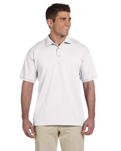 White Adult Ultra Cotton® 6 oz. Jersey Polo