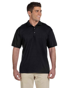 Black Adult Ultra Cotton® 6 oz. Jersey Polo
