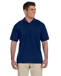 Navy Adult Ultra Cotton® 6 oz. Jersey Polo