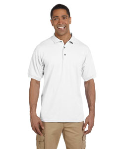 White Ultra Cotton® 6.5 oz. Pique Polo