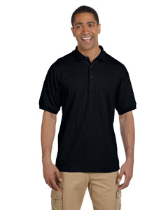 Black Ultra Cotton® 6.5 oz. Pique Polo