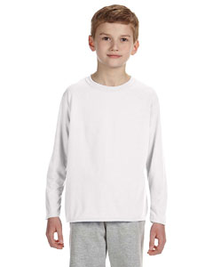 White Performance® Youth 4.5 oz. Long-Sleeve T-Shirt