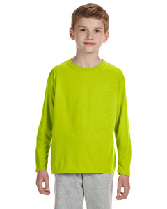 Safety Green Performance® Youth 4.5 oz. Long-Sleeve T-Shirt
