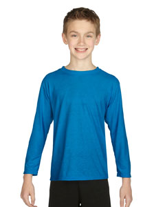 Sapphire Performance® Youth 4.5 oz. Long-Sleeve T-Shirt