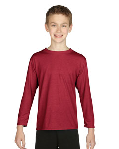 Cardinal Red Performance® Youth 4.5 oz. Long-Sleeve T-Shirt