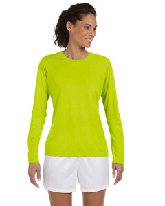 Safety Green Women's 4.5 oz. Performance Long-Sleeve T-Shirt
