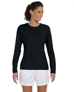 Black Women's 4.5 oz. Performance Long-Sleeve T-Shirt