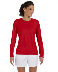 Red Women's 4.5 oz. Performance Long-Sleeve T-Shirt
