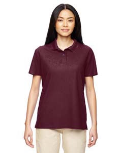 Marble Maroon Ladies' Performance® 4.7 oz. Jersey Polo