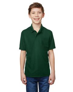 Forest Green Youth Performance® 5.6 oz. Double Pique Polo