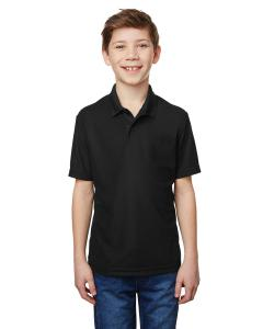 Black Youth Performance® 5.6 oz. Double Pique Polo
