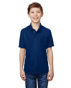Navy Youth Performance® 5.6 oz. Double Pique Polo