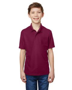 Maroon Youth Performance® 5.6 oz. Double Pique Polo
