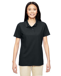Black Performance® Ladies' 5.6 oz. Double Piqué Polo
