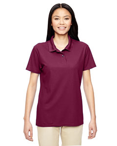 Maroon Performance® Ladies' 5.6 oz. Double Piqué Polo