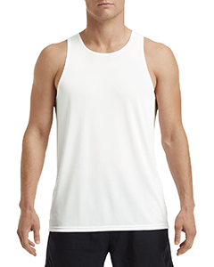 White ADULT Performance® Adult Singlet