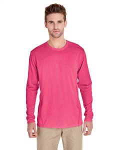 Safety Pink Adult Tech Long-Sleeve T-Shirt