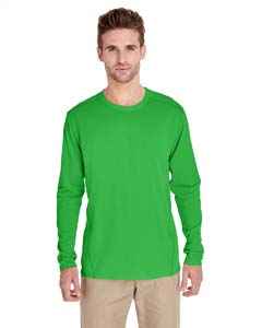 Electric Green Adult Tech Long-Sleeve T-Shirt