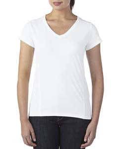 White Ladies' Tech Short-Sleeve V-Neck