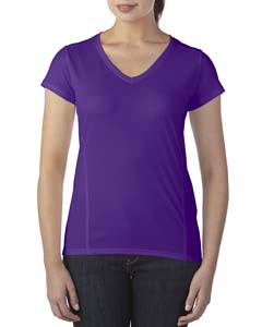 Marbled Purple Ladies' Performance® 4.7 oz. V-Neck Tech T-Shirt