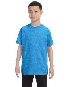 Heather Sapphire Heavy Cotton™ Youth 5.3 oz. T-Shirt