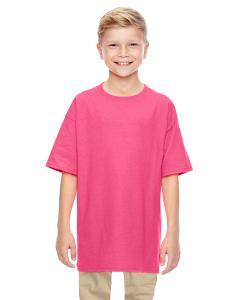 Safety Pink Heavy Cotton™ Youth 5.3 oz. T-Shirt