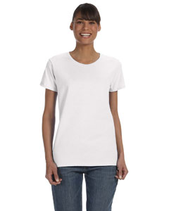 White Women's 5.3 oz. Heavy Cotton Missy Fit T-Shirt