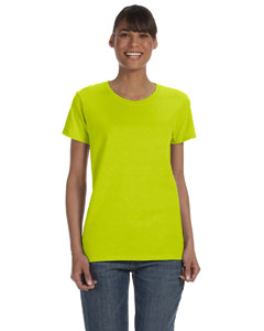 Safety Green Women's 5.3 oz. Heavy Cotton Missy Fit T-Shirt