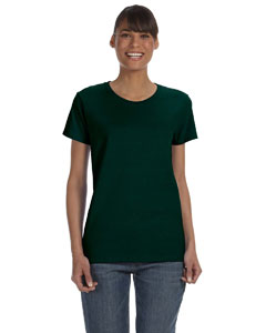 Forest Green Women's 5.3 oz. Heavy Cotton Missy Fit T-Shirt