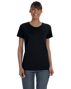 Black Women's 5.3 oz. Heavy Cotton Missy Fit T-Shirt