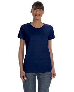 Navy Women's 5.3 oz. Heavy Cotton Missy Fit T-Shirt