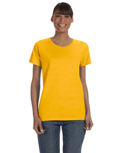 Gold Women's 5.3 oz. Heavy Cotton Missy Fit T-Shirt