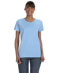 Light Blue Women's 5.3 oz. Heavy Cotton Missy Fit T-Shirt