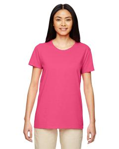 Safety Pink Women's 5.3 oz. Heavy Cotton Missy Fit T-Shirt