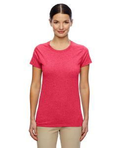 Heather Red Women's 5.3 oz. Heavy Cotton Missy Fit T-Shirt