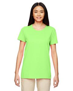 Neon Green Women's 5.3 oz. Heavy Cotton Missy Fit T-Shirt