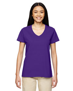 Purple Heavy Cotton™ Ladies' 5.3 oz. V-Neck T-Shirt