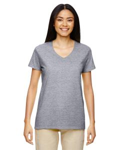 Graphite Heather Heavy Cotton™ Ladies' 5.3 oz. V-Neck T-Shirt