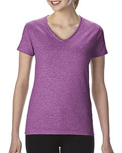 Hthr Rdnt Orchid Heavy Cotton™ Ladies' 5.3 oz. V-Neck T-Shirt